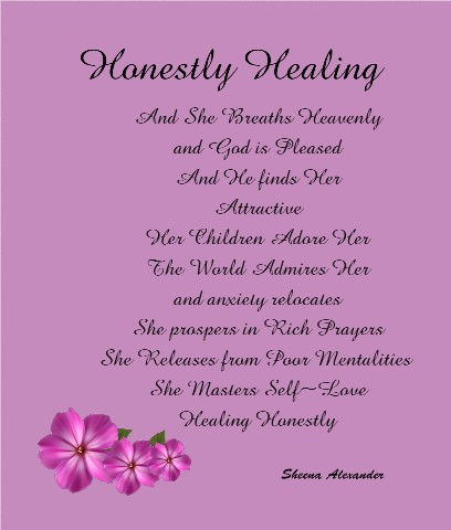 Honestly Healing Canvas Print 20x24