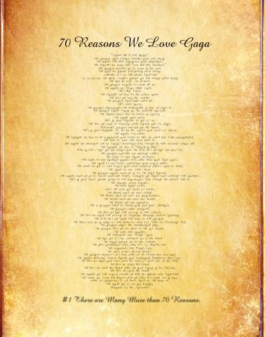 Gaga70 Canvas Print 12x16