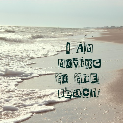 Beach Move 8 x 8 Custom Canvas Print