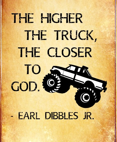 Higher Truck Canvas Print 16x20