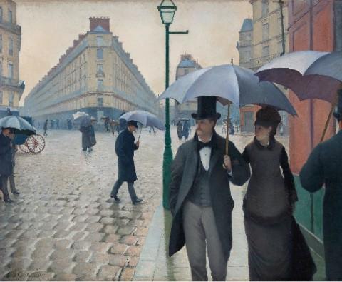 Paris Street; Rainy Day Canvas Print 14x11