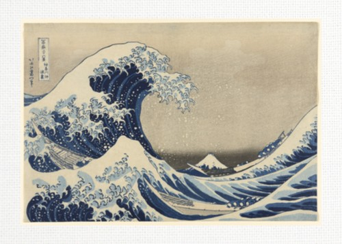 The Great Wave by Katsushika Hokusa 18 x 12 Custom Canvas Print