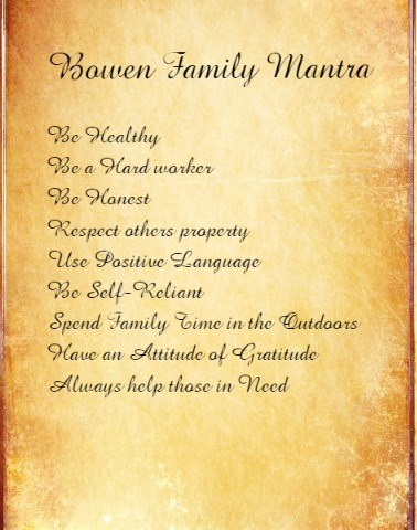 Bowen Mantra Canvas Print 12x16