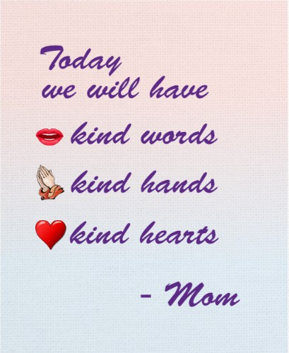 kind mom quote 16 x 20 Custom Canvas Print XPress