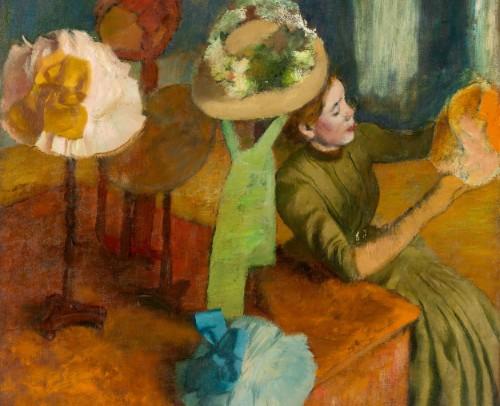 The Millinery Shop by Edgar Degas 14 x 11 Custom Canvas Print XPress