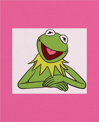 kermit the frog 11 x 14 Custom Canvas Print XPress
