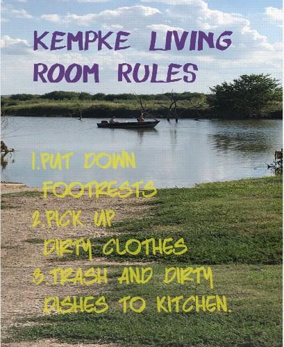 Living Room Rules 16 x 20 Custom Canvas Print XPress