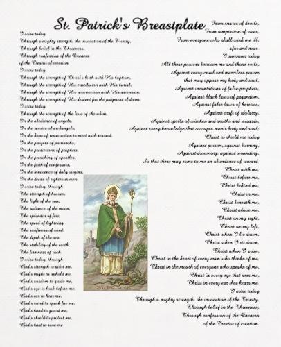 St. Patricks Breastplate  24 x 30 Custom Canvas Print XPress