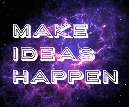 Make Ideas Happen Canvas Print 24x20