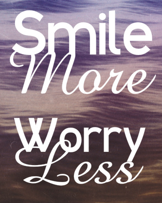 Smile More, Worry Less Canvas Print 16x20