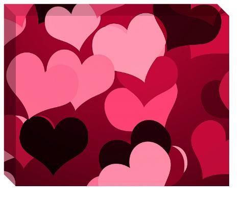 Hearts on Hearts Canvas Print 20x16