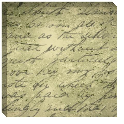 handwritten poem canvas print 24x24 designed by makecanvasprints