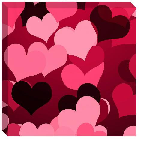 Hearts on Hearts Canvas Print 24x24