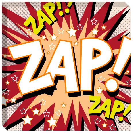 Zap! Canvas Print 24x24