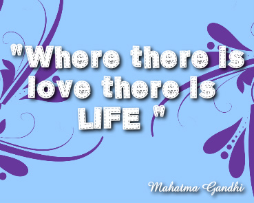 Where there is love there is life Canvas Print 10x8