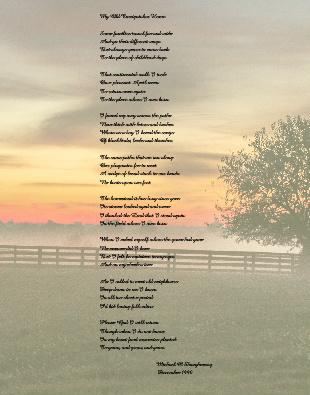 poem Canvas Print 11x14