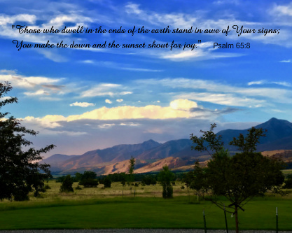 Psalm 65:8 Canvas Print 20x16