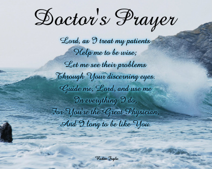 Doctor's Prayer Canvas Print 20x16