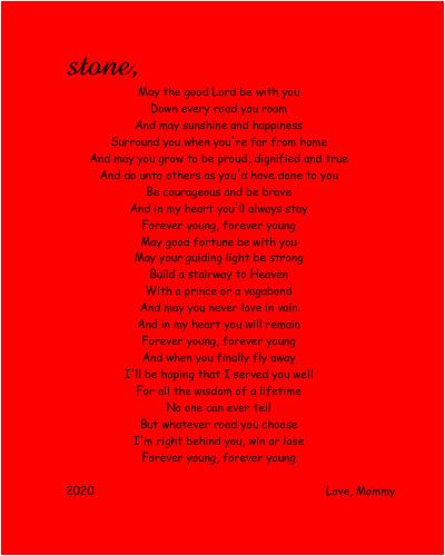 stone 8 x 10 Custom Canvas Print XPress